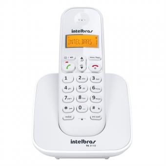 Telefone Intelbras Sem Fio Digital TS 3110 Branco