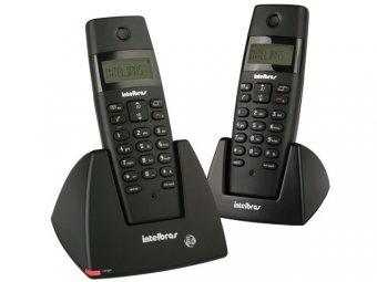 Telefone mais Ramal Intelbras Sem Fio TS 40 C ID Preto
