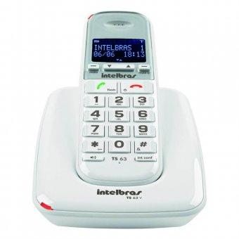 Telefone Sem Fio DECT 6.0 com Identificador de Chamadas e Viva Voz TS63V Branco