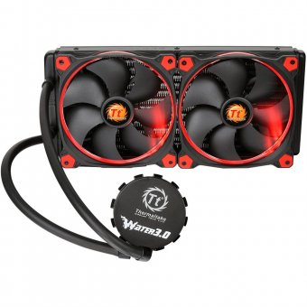 Watercooler Thermaltake Water 3.0 Riing Red 280 All In One Cl-w138-pl14re-a