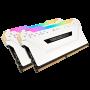 Memoria Corsair 32GB, 3000MHz 32GB ( 2un x 16gb ) PRO white RGB LED -CMW32GX4M2C3000C15W