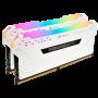 Memoria Corsair 32GB, 3000MHz 32GB ( 2un x 16gb ) PRO white RGB LED -CMW32GX4M2C3000C15W 3