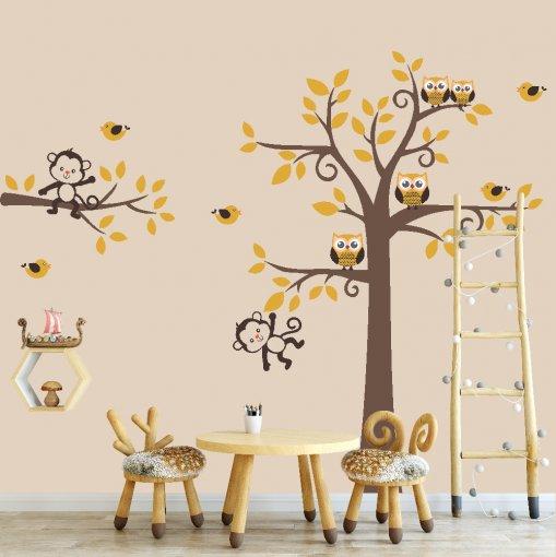 Adesivo de Parede - Árvore e Animais