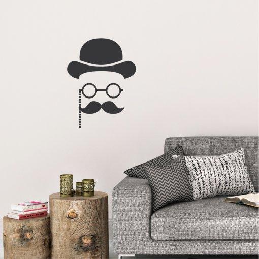 Adesivo Decorativo Cavalheiro - ADE115