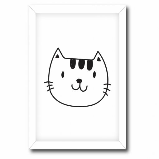 Quadro Decorativo Gato - Ps221