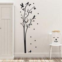Imagem - Adesivo de Parede - Árvore com Pássaros - ADE641 - 1ADE641