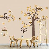 Imagem - Adesivo de Parede - Árvore e Animais - ADE078