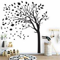 Imagem - Adesivo de Parede - Árvore folhas voando - ADE603