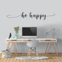 Imagem - Adesivo de Parede - Be Happy - ADE065 - 1ADE065