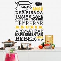 Imagem - Adesivo de Parede - Comer, Amar .... - ADE060 - ADE060