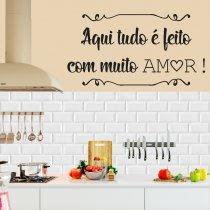 Imagem - Adesivo de Parede - Feito com Amor - ADE067 - 1ADE067