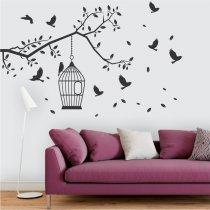 Imagem - Adesivo de Parede - Recanto dos Pássaros - ADE418