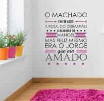 Adesivo Parede frase Machado era ADE361