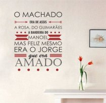 Imagem - Adesivo Parede frase Machado era ADE361 - 3ADE361