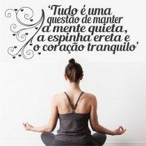 Imagem - Adesivo Parede Frase Mente Quieta ADE330 - 1ADE330