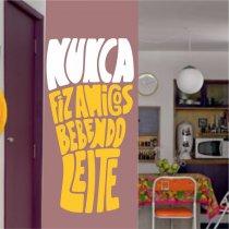 Imagem - Adesivo Parede Frase Nunca fiz ADE349 - ADE349