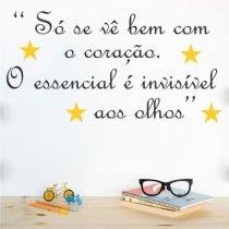 Imagem - Adesivo Parede Frase O essencial ADE339 - ADE339
