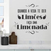 Imagem - Adesivo Parede Frase Quando a Vida te der Limões ADE032 - ADE032
