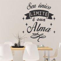 Imagem - Adesivo Parede Frase Seu Limite, Sua Alma ADE034