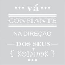 Imagem - Adesivo Parede frase Vá Confiante ADE336 - 2ADE336