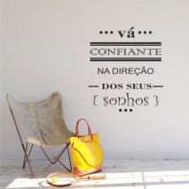 Imagem - Adesivo Parede frase Vá Confiante ADE336 - 1ADE336