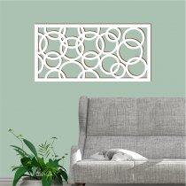 Imagem - Quadro vazado decorativo Geométrico MDF - Branco - PA070 - 2PA070