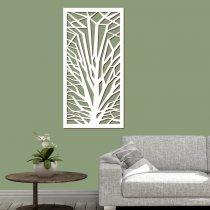 Imagem - Quadro vazado decorativo Arvore Geométrica MDF- Branco-PA075 - 2PA075