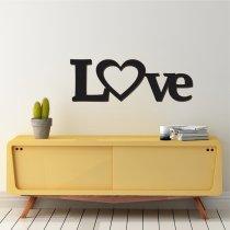 Imagem - Aplique de Parede Escrito Love em MDF - CD019 - CD019