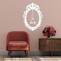 Imagem - Aplique em MDF Torre Eiffel - Branco - QD002 - 2QD002