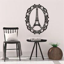 Imagem - Aplique em MDF Torre Eiffel - Preto - QD001 - QD001