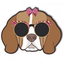 Imagem - Cachorro Beagle de Lacinho Rosa em MDF - AN017 - AN017
