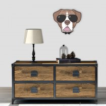 Imagem - Cachorro de óculos em MDF - AN015 - AN015