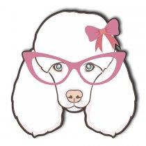 Imagem - Cachorro Poodle de óculos Rosa em MDF - AN016 - AN016