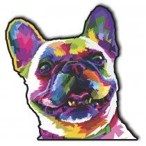 Imagem - Cachorro pop art em MDF - PA008 - PA008