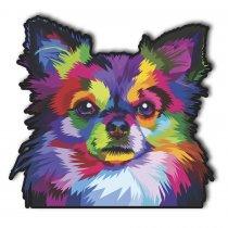 Imagem - Cachorro pop art em MDF - PA009 - PA009
