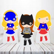 Imagem - Kit 3 Displays Mesa - Super Heroinas - TOT266 - TOT266