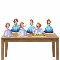Imagem - Kit 6 Displays Mesa - Princesinha Sophia - KD010 - KD010