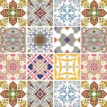 Imagem - Kit Adesivo para Azulejo 48Pçs 15x15cm Azu019 - 2Azu019