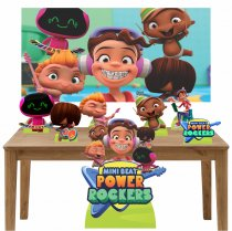 Imagem - Kit Totem Display 7pçs+painel - Mini Beat Power Rockers - LT021