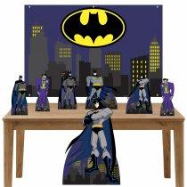 Imagem - Kit decoração de festa Totem Display 7pçs+painel - Batman - LT027