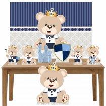 Imagem - Kit decoração Totem Display 7pçs+painel - Ursinho Principe - LT030