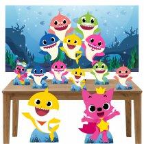 Imagem - Kit decoração de festa totem display 8pçs+painel- Baby Shark - LT022