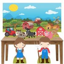Imagem - Kit decoração de festa totem display 8pçs+painel- Fazendinha - LT028