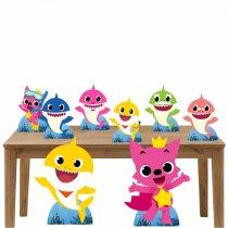 Imagem - Kit decoração de festa totem e display 8pçs - Baby Shark - TOT287