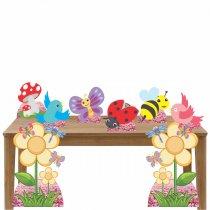Imagem - Kit decoração de festa totem e display 8pçs - Jardim Encantado - TOT294