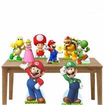Imagem - Kit decoração de festa totem e display 8pçs - Super Mario - TOT289