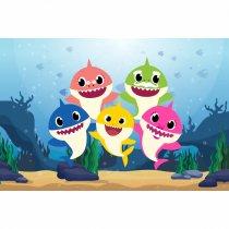 Imagem - Painel de Festa lona - Baby Shark - L093 - L093
