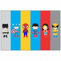 Imagem - Painel de Festa lona - Super heróis Baby - L079 - L079