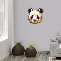 Imagem - Panda pop art em MDF - PA011 - PA011