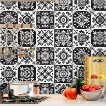 Imagem - Papel de Parede Adesivo Geometric White&Black - PP059
